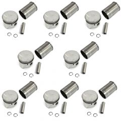 SET OF 8 PISTONS AND LINERS